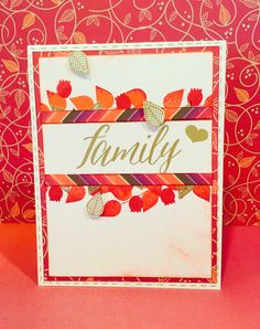 card by ?? (anyone know who made this card or what blog it's on?)... using CTMH Sangria paper