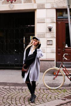 Cap and Grey Wool Coat  http://tickleyourfancy.indiedays.com/2014/11/24/dokkariputki/