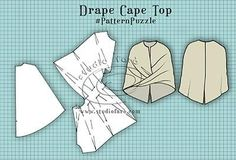 Drapera Twist Mönster till en Cape