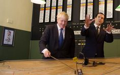 The Mayor of London Boris Johnson (left) and the Chancellor of the Exchequer, George Osborne visit the Battle of Britain Bunker in Uxbridge