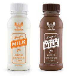 Whataburger milk bottle packaging.