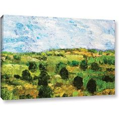 ArtWall Allan Friedlander Just Roll Along Gallery-wrapped Canvas, Size: 16 x 24, Green