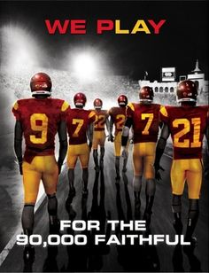 USC 2012 FootBall Poster