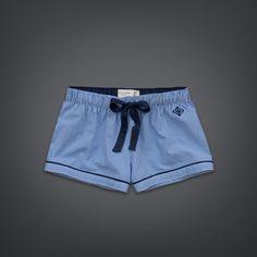 Womens Menswear Sleep Shorts | Womens Clothing | GillyHicks.com