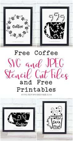 free svg and printable -- coffee inspired