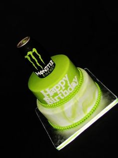 Monster Energy Drink Cake  Exclusive Cakes By Tessa Yelp @Brittany Coley