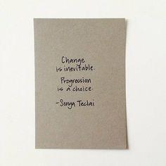 Change  or Progression