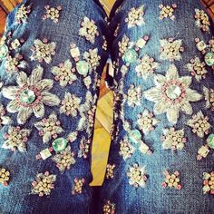 DIY: christopher kane x j. brand embellished jeans. - ... caramel makes everything sexier.