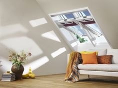 Fill your home with light by installing a Velux or Fakro roof window. Available in a range of styles to suit your personal taste and property. Roof Window, Skylight, Game Room, Attic, Guest Room, Living Spaces, Living Rooms, Oversized Mirror, Windows
