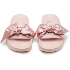 1116163dc7dd Fenty Puma by Rihanna Bow slide ( 83) ❤ liked on Polyvore featuring shoes
