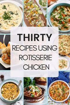Store bought rotisserie chicken recipes A look at 30 recipes that can be cooked using a store bought rotisserie chicken recipe chickenrecipe rotisseriechicken rotisseriechickenrecipes rotisseriechickenrecipesleftover leftovers chickenleftovers Recipes Using Rotisserie Chicken, Leftover Rotisserie Chicken, Healthy Chicken Recipes, Cooked Chicken Recipes Leftovers, Potato Recipes, Pasta Recipes, Crockpot Recipes, Soup Recipes, Vegetarian Recipes