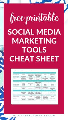 Looking for the best social media marketing management tools for entrepreneurs and small business owners? Here's an in-depth review of the 15 best tools, plus a free printable cheat sheet so that you can easily compare them. Automate your schedule and save time! | Apps | #socialmediamarketing