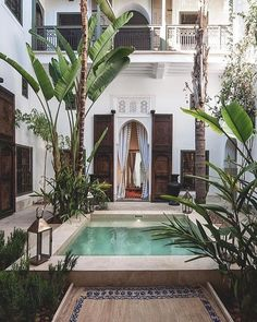 A place to unwind... in the interior courtyard of Riad Jaaneman in the heart of the Marrakech medina.
