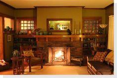 1909 Spokane WA Craftsman Fireplace