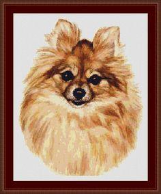 Instant Download! Pomeranian Dog Cross Stitch Pattern (8367) PDF file for easy printing https://www.etsy.com/shop/InstantCrossStitch