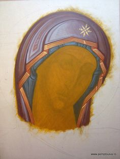 See the source image Religious Images, Religious Icons, Religious Art, Byzantine Art, Byzantine Icons, Painting Process, Painting Techniques, Paint Icon, Face Icon