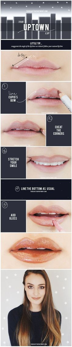 Beauty Hacks : Picture Description Tips for Lining Your Lips Like a Pro - A Quick Lip Tip - Easy Tutorials and Awesome Hacks For Lip Liners - Kylie Jenner Make Up Tutorial Eyeshadows, Make Up Tutorial Contouring, Lip Tutorial, All Things Beauty, Beauty Make Up, Hair Beauty, Beauty Secrets, Beauty Hacks, Lip Tips