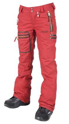 Volcom Salic Insulated Pant DARK CHERRY @ http://www.snowboardconnection.com