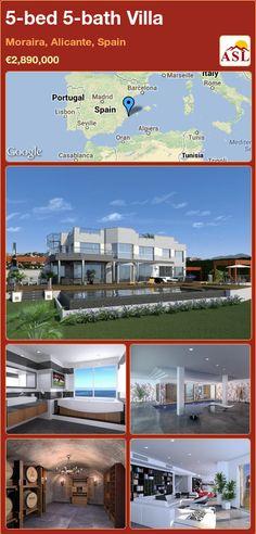 5-bed 5-bath Villa in Moraira, Alicante, Spain ►€2,890,000 #PropertyForSaleInSpain