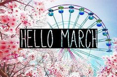 Photo hello march Hello March, my dear, Spring is so close! Spring Months, Days And Months, Months In A Year, 1 Year, Maurice Sendak, Live Your Life, Hello March Images, Hello Mars, Vacation