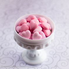 Sugar-Free Cream Cheese Candies -- a healthier version of the classic cream cheese candies. Colored with natural beetroot juice. Serve the candies as cute, pink treats or coat them with dark chocolate to create an unbeatable combination of mint and chocolate.