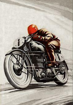 Inazuma café racer: Vintage motorcycle art