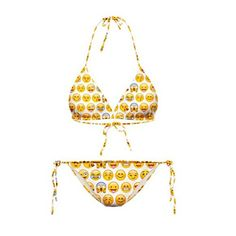 CHIC Swimwears Emoji Bikinis Vintage Sexy Bandage Push Up Halter Swim Suit Set *** Read more reviews of the product by visiting the link on the image.