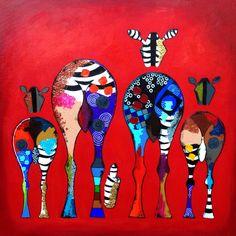 """""""Buds"""", Acrylic on Canvas, 80x80cm"""