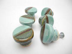 Glass Drawer Pull Handles, Ceramic Knobs  Recycled Roman And Blue Bottle  Glass | Drawer Pulls, Knobs And Glass Drawer Pulls