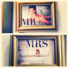 Funny wedding decor...AND master bathroom decor after the wedding!