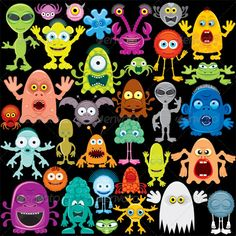 Cartoon Monster, Mutants and Aliens Cartoon Vector Monste. Cartoon Monster, Mutants and Aliens Cartoon Vector Monster, Mutants, Aliens Pack Contains: Cute Monsters Drawings, Alien Drawings, Cartoon Monsters, Little Monsters, Cartoon Drawings, Doodle Monster, Aliens, Doodle Pattern, Zentangle