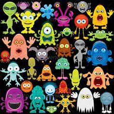 Cartoon Monster, Mutants and Aliens #GraphicRiver Cartoon Vector Monster, Mutants, Aliens Pack Contains: