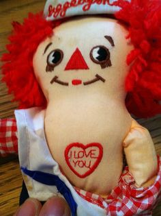 """Raggedy Andy 8"""" doll on Etsy, $7.00"""