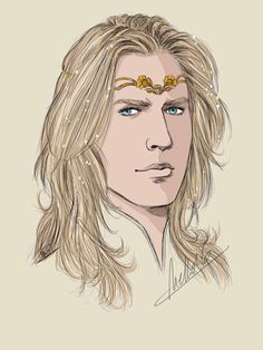 Golden Flower by MellorianJ on DeviantArt (Glorfindel) Tolkien, History Of Middle Earth, Glorfindel, Golden Flower, Legolas, The Elf, Lotr, Art Techniques, The Hobbit