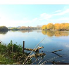 Autumnal Waikato River at Mihi, Golden Springs. Heartland, Autumnal, New Zealand, Scene, River, Spaces, Mountains, Nature, Naturaleza
