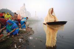 Indranil Sengupta - Woman praying at Chhat festival