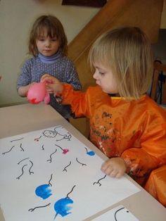 Beeld - Stempelen met ballonnen