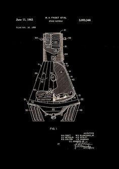 Space Capsule Patent 1963 Photograph