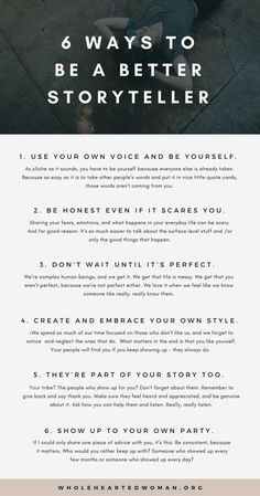 6 Ways To Be A Better Storyteller - Kreatives Schreiben - Stories