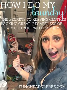 Video on laundry tricks that keep your clothes looking great, even if you didn't pay much for them! From FunCheapOrFree.com