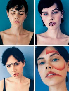 """Loving the colors and concept behind this shoot, aptly titled """"I didn't  know you could wear eyeliner there.""""  Photos by Mehdi Lacoste.  +i-d.vice.com"""