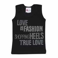 Rhinestone Love Is Fashion Tank only $32.00 - Trendy Tank Tops