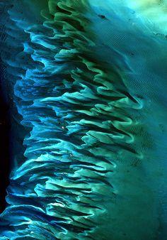 Bahamas, Landsat image ETM image (I rotated image to enlarge it.)