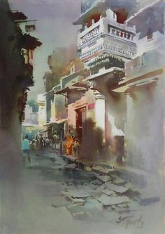 Watercolour Paintings By Prafull Sawant by India Artist, via Behance
