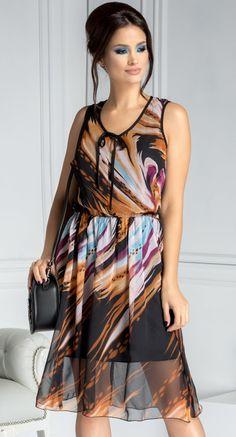 Rochie Moze din voal cu imprimeu multicolor My Style, Casual, Dresses, Girls, Fashion, Clothing, Vestidos, Toddler Girls, Moda