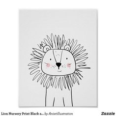 Draw Lions Lion Nursery Print Black and white modern zoo ♥ A wonderful addition to your little one's nursery decor. A cute Lion illustration. - ♥ A wonderful addition to your little one's nursery decor. A cute Lion illustration. Lion Nursery, Animal Nursery, Nursery Prints, Nursery Art, Nursery Decor, Nursery Paintings, Nursery Drawings, Nursery Modern, Modern Wall