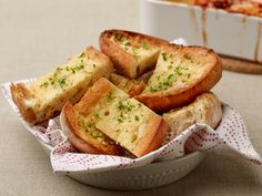 Garlic Bread recipe from Rachael Ray via Food Network Would go great with #BonAppetitPizza #GotItFree #SavorTheMoment