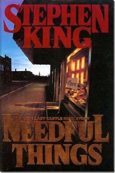 ✿ Needful Things ~ by Stephen King ✿  Of all the SK books I have read, I really didn't like this one or the Tommyknockers.