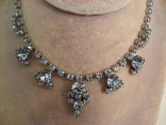 Vintage Sparkling Sapphire Blue Rhinestone by TheRiversEdgeVintage