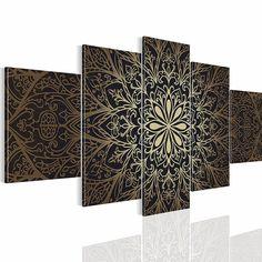 Bild 200 x 100 cm Bilder !!! SENSATIONSPREIS !!! Wandbild auf Vlies Leinwand XXL Kunstdrucke Abstrakt Wandbild Kunstdrucke Mandala Ornament !!! 100% MADE IN GERMANY !!! 107451a: Amazon.de: Küche & Haushalt